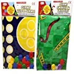2 traditional family games Giant Ludo...