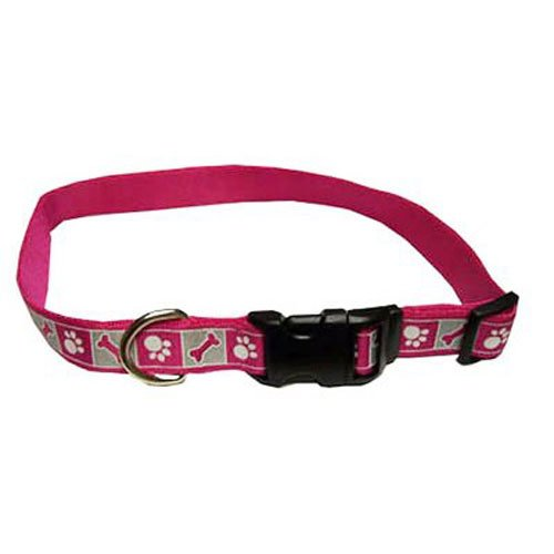 Coastal Pet 46481 A PKF18 Adjustable Flamingo Collar, Pink