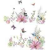Takarafune ウォールステッカー 花 壁紙シール ガーデン 剥がせる 壁紙 部屋飾り 春 ウォールステッカー 防水 おしゃれ