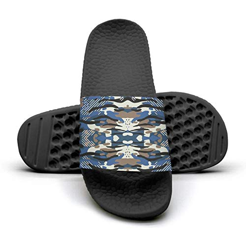 18d0b45845e4 Tiger stripe navy camo Mens sliders flip flops by ddasqas