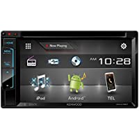 Kenwood DDX416BT 6.2 Double Din Touchscreen DVD CD Bluetooth USB iPod Android Siri Eyes Free Dual Phone Connection Variable Color Illumination Car Stereo Receiver