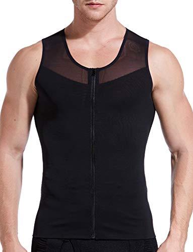 Hoter Mens Slimming Body Shaper Vest/T-Shirt with Zipper
