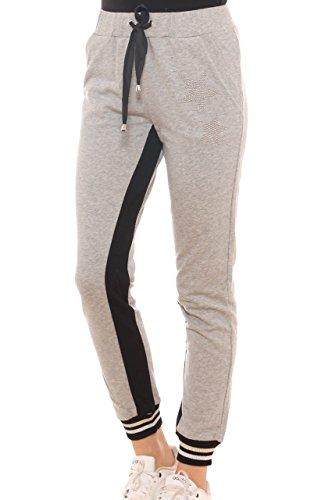 Gris Para Key Mujer Pantalón di wqafIB