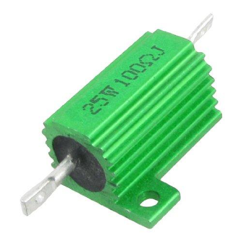 eDealMax Verde 25W Watt 100 Ohm 5% Carcasa de aluminio ...