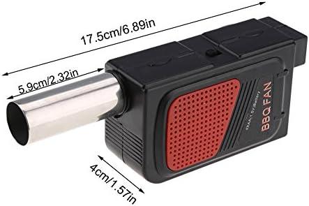 Barbecue portable - Ventilateur à air portable alimenté par piles - Ventilateur de barbecue - Manivelle manuelle - Barbecue à main - Outil de cuisson de camping