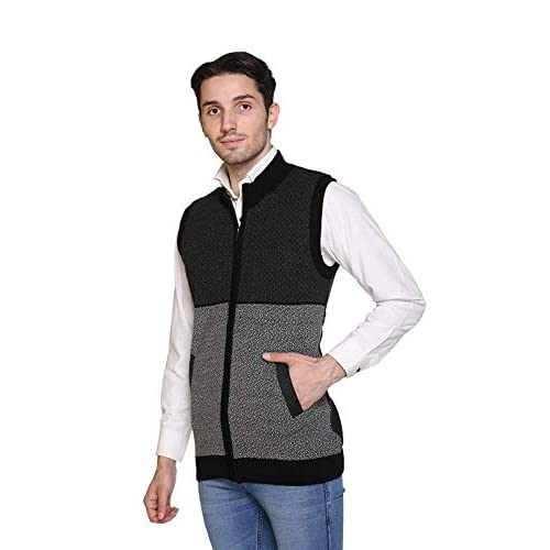 41Ak7wgFJoL. SS500  - aarbee Sleeveless Zipper Sweater for Men
