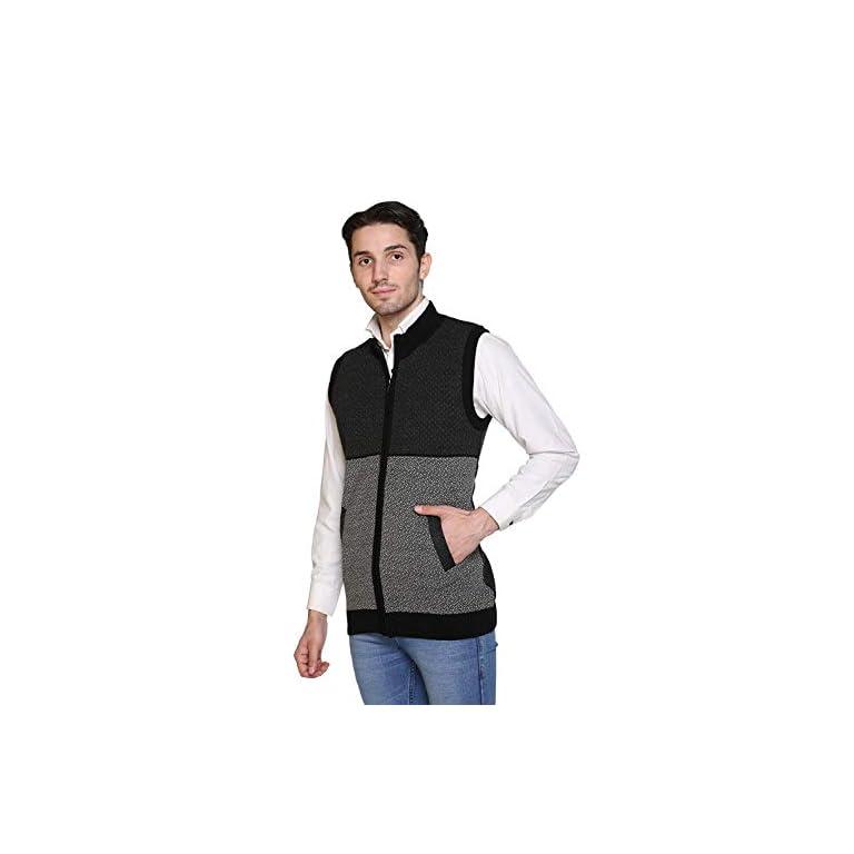 41Ak7wgFJoL. SS768  - aarbee Sleeveless Zipper Sweater for Men