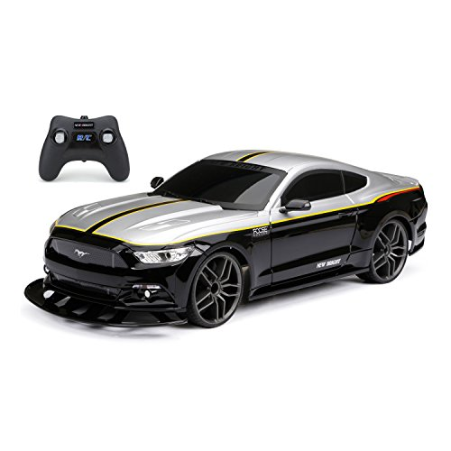 New Bright Foose Mustang RC Toy Car, Black/Grey ()