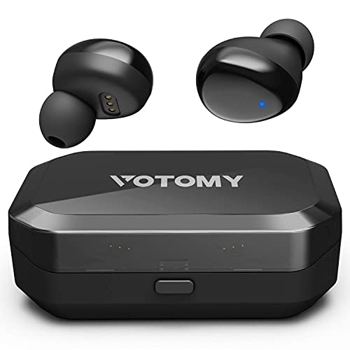 BluetoothWireless Earbuds, VotomyBluetooth Earphones in Ear with Noise Cancellation & Deep Bass, 200H Playtime, LED Display, Touch Control, IPX7 Waterproof, TWS Stereo Earphones w/Built-in Mic