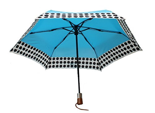 shedrain-ultimate-umbrella-44-arc-auto-open-close-wood-handle-blue-w-polka-dots-by-shedrain
