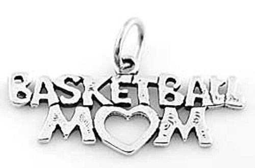 Sterling Silver Basketball MOM Charm/Pendant Jewelry Making