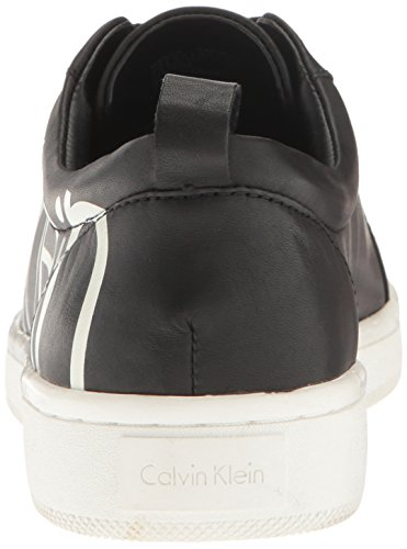 Femme Cow Danya Noir Print with Calvin Klein Silk Basses Sneakers Logo 1Sqw5zx5E