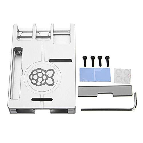 - Compatible Kits Raspberry Pi Orange Pi - Ultra-thin Silver Aluminum Alloy Case Portable Box Support GPIO Ribbon Cable For Raspberry Pi 3 Model B 2 B/B+ /spa