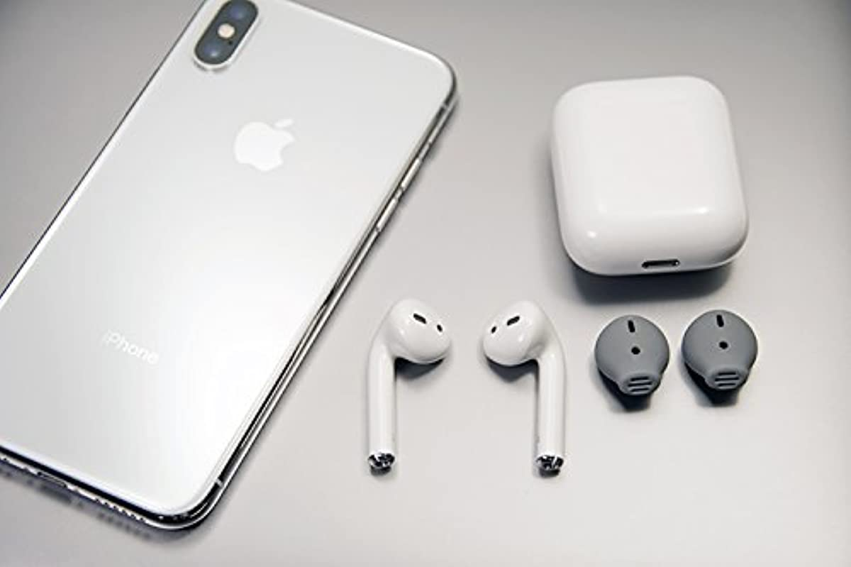 393fbfe39a1 Details about EarSkinz AirPod Covers (ES3) - Charcoal - for Apple AirPods