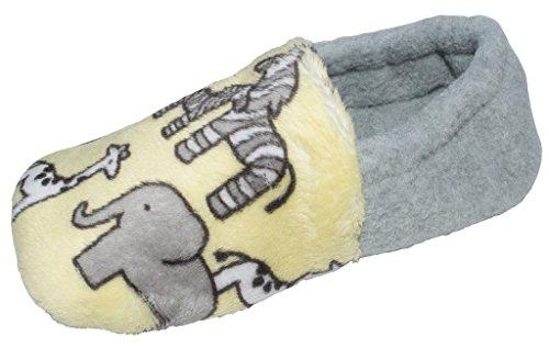 BePe Baby Toddler Little Kids Warm Slip Resistant House Slipper Bootie Shoes - Safari - Size ()