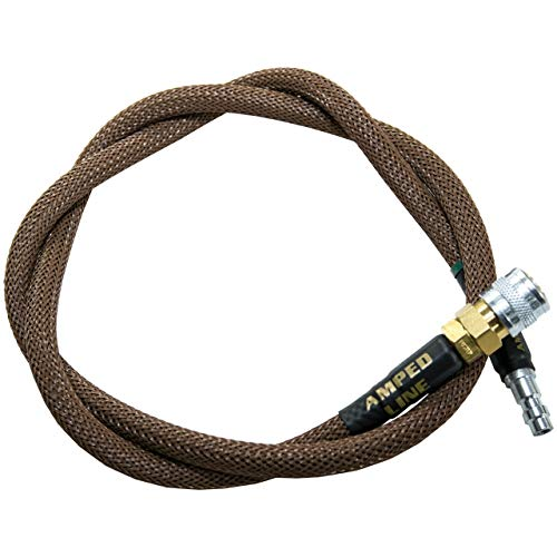 AMPED Airsoft Amped Line   Heavy Weave for PolarStar, Wolverine, and Redline HPA Units 42 Inch Brown Heavy
