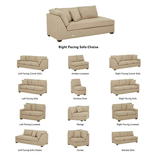 Stone & Beam Bagley Sectional Component, Right-Facing Sofa Chaise, Fabric, 41