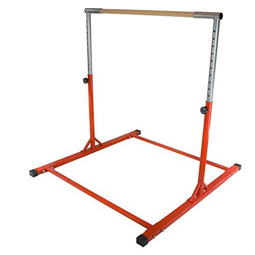 - Jungle Kids Red Senior Junior Heavy Duty Adjustable Horizontal Gymnastics Training Home Gym Pull up Kip High Bar