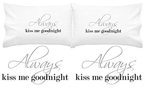 Oh, Susannah Always Kiss Me Goodnight Couples Pillow Cases (For Weddings, People in Love) (King) (Counterfeit Rolex)