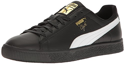 Puma Number - PUMA Men's Clyde Sneaker, Black-Whit, 12 M US