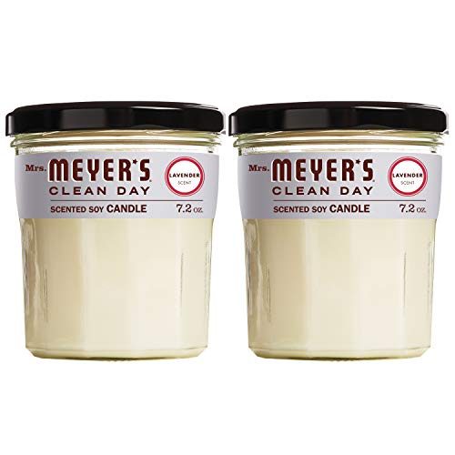Mrs Meyer#039s Clean Day Scented Soy Candle Large Glass Lavender 72 oz 2 ct