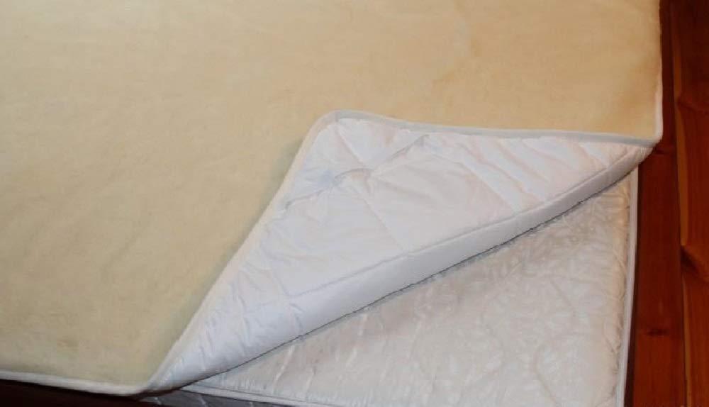 Merino Polska Unterbett aus Wolle 180x200 cm Matratzenauflage Matratzenschoner Matratzen-Auflage Matratzen-Schoner mit Noppenstruktur