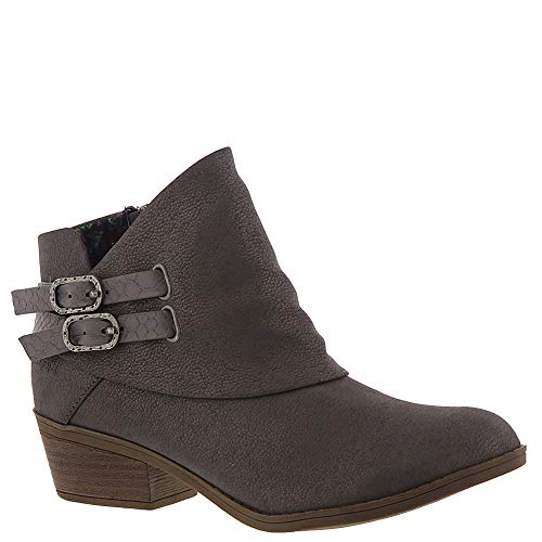 Blowfish Sistee Womens Ankle Boots Charcoal New Fawn/Snake Charmer 7.5 ()