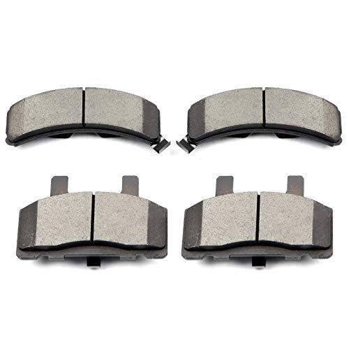 (Brake Pads,ECCPP 4pcs Front Ceramic Brake Pads Kit fit for Cadillac Escalade Chevy C1500 Suburban C2500 Express Suburban K2500 Tahoe Dodge Ram 1500 GMC C1500 Suburban C2500 Suburban K2500 Savana)