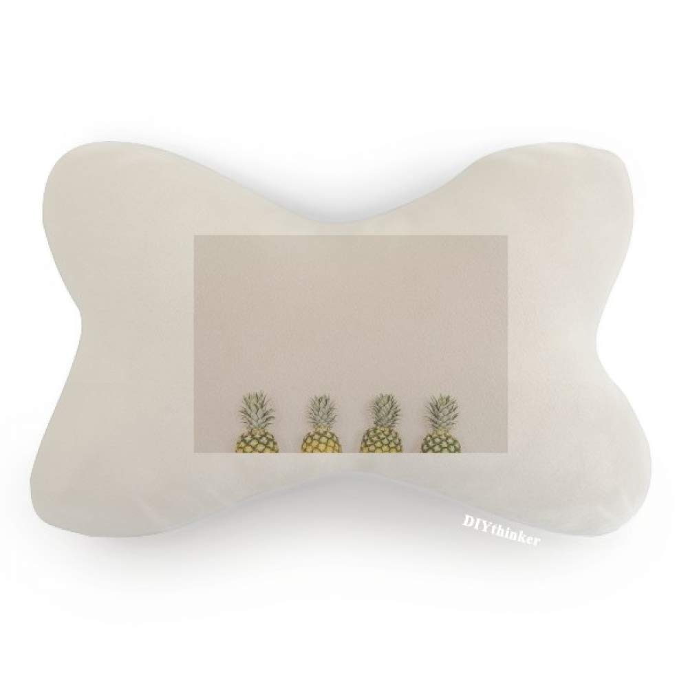 DIYthinker Fresh Pineapple Fruit White Wall Car Neck Pillow Headrest Support Cushion Pad