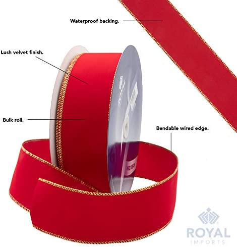 "NEW 90 FEET WIRE EDGED 2 1//2/"" WIDE RED RIBBON FREE SHIP"
