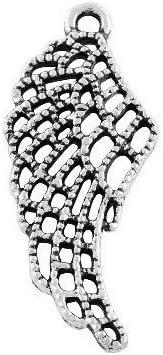 ZX16380 Paket 20 x Antik Silber Tibetanische 31mm Charms Anh/änger Fl/ügel - - Charming Beads