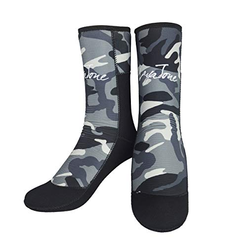 Layatone Diving Socks Adults 7mm Neoprene Socks Boots Surfing Swimming Beach Water Wetsuit Socks Boots Non-Silp Spearfishing Boots Shoes Socks Men Women