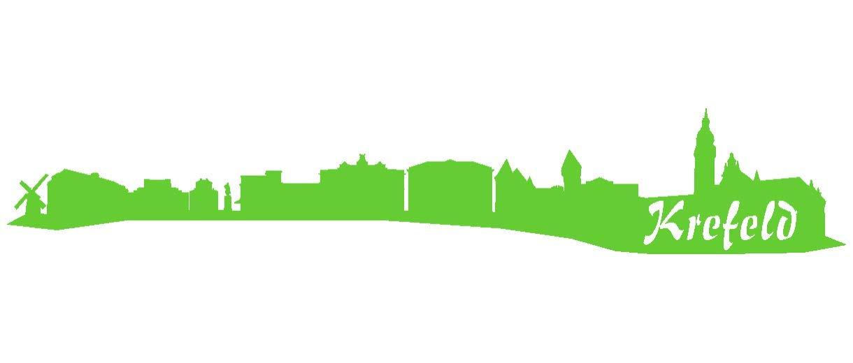 Samunshi® Aufkleber Krefeld Skyline Autoaufkleber in 9 Größen und 25 Farben (140x25cm kupfermetalleffekt) B007JFPKFE   Moderater Preis