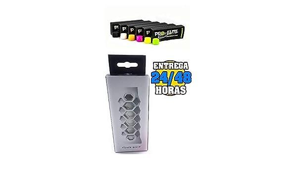 Grip Padel HESACORE Tour Grip + overgrips Pro Elite Confort Perforados. Caja 10+2 unds.: Amazon.es: Deportes y aire libre