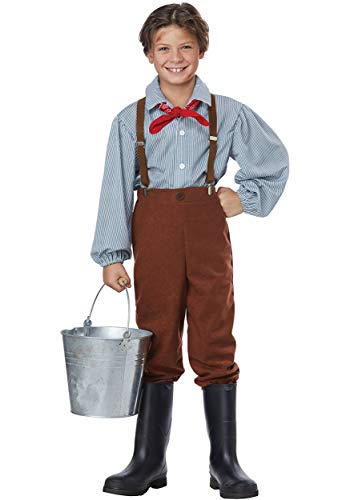 Pioneer Boy - Child Costume Brown]()