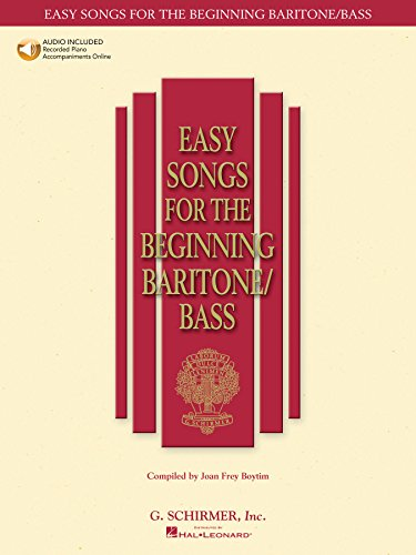 G Schirmer Baritone - Easy Songs for the Beginning Baritone/Bass (Easy Songs for Beginning Singers)