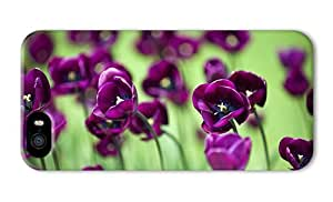 Do It Yourself DIY iphone 5 cool cases Beautiful purple tulip flowers green background PC 3D for Apple iPhone 5/5S