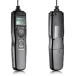 Neewer® 6-In-1 Timer Shutter Release for Canon 700D 650D 550D 60D,5D MarkIII 6D 70D 7D MarkII,Nikon D4 D300s D700 D800,D90 D7100 D600 D5300 D610 D5100 D3200 D3100,Sony A7 A7S A7R A5000 A5100 A6000