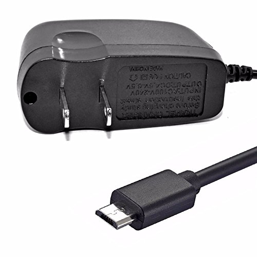 Verizon Samsung Galaxy J3 V 2.4 Amp Rapid Home Wall Travel Charger USB 6ft Long Cable Adapter MicroUSB Power Wire Data Cord with LED Light for Verizon Samsung Galaxy J3 Mission Eclipse
