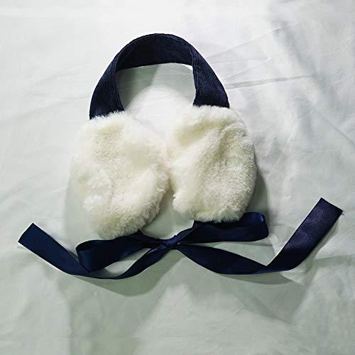 Funnmart Winter Keep Warm Earmuffs for Women Corduroy Plush Ear Bag Ins Style Fashion Bow Ribbon Ear Protection for Girls