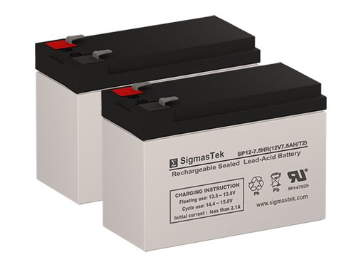 Razor Pocket Mod Bella 12 Volt 7.5 AmpH Replacement Scooter Batteries - Set of 2