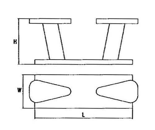 Double Horn Bollard Boat Cleat Heavy Duty Marine 316 Stainless Steel by MarineNow