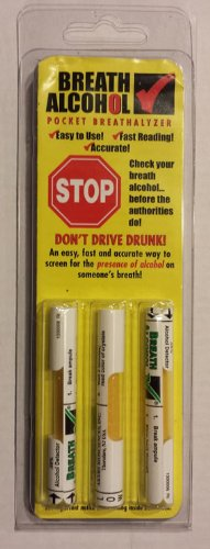 Breath Alcohol  08  Pocket Breathalyzer  3 Pack
