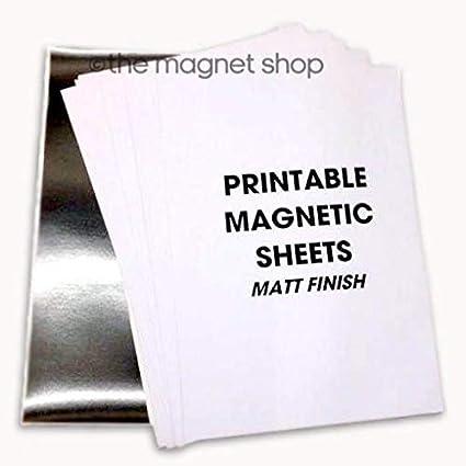 10 fogli per stampante inkjet a getto dinchiostro foglio magnetico bianco stampabile SKULLPAPER Premium foglio magnetico fai da te formato A4