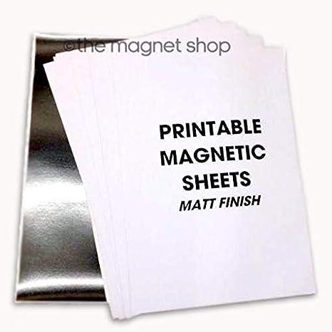 10 A4 hojas papel fotográfico magnética MATT - impresoras de ...