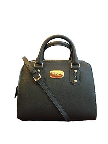 michael-kors-small-satchel-black-saffiano-leather