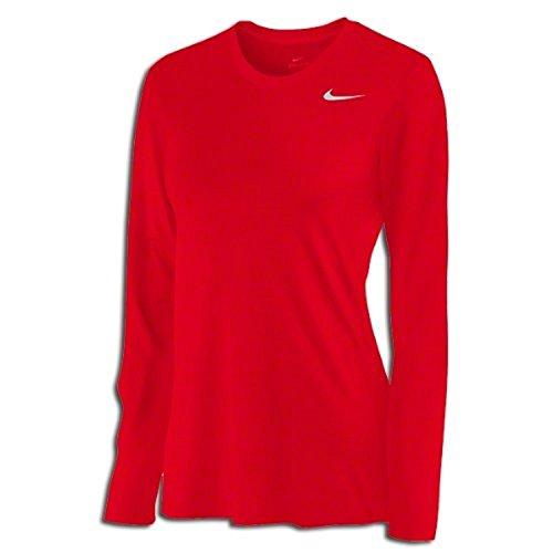 (Nike Womens Long Sleeve Legend Shirt, (Medium, Varsity Red))