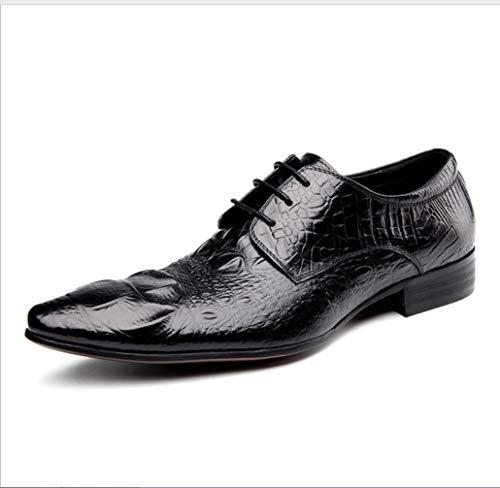 SHANGWU Zapatos De Cuero del Vestido De Negocios De Los Hombres Zapatos De  Cuero Genuinos De Gama Alta Zapatos De Boda  Amazon.es  Deportes y aire  libre 6cd49f2dfd352
