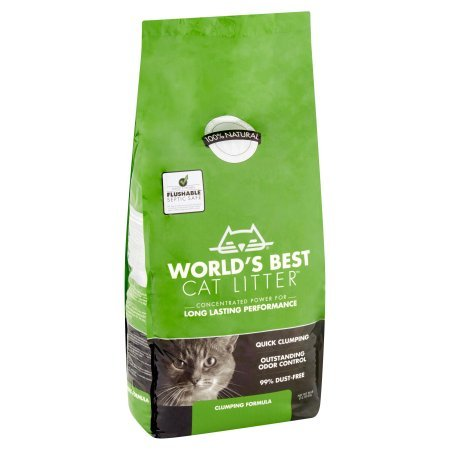 World's Best Cat Litter 28 lbs Easy Scooping, Odor Control Clumping Formula Animals Pet Supplies ...