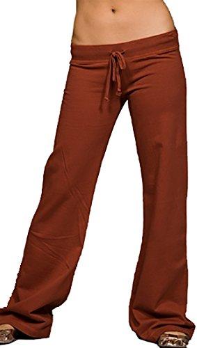 Twisted Heart Drawstring Kenzie Flare Sweat Pants (Small, Redhead) (Sweatpants Twisted Heart)